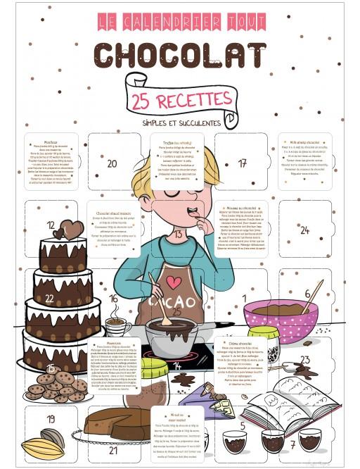 Calendrier de l'avant ou de l'après - 25 recettes au chocolat