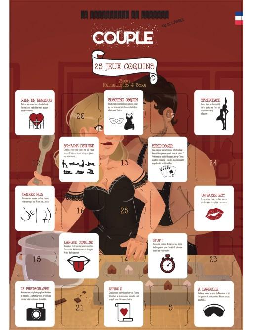 Calendrier de l'avant ou de l'après special couple - 25 jeux sexy et gourmands
