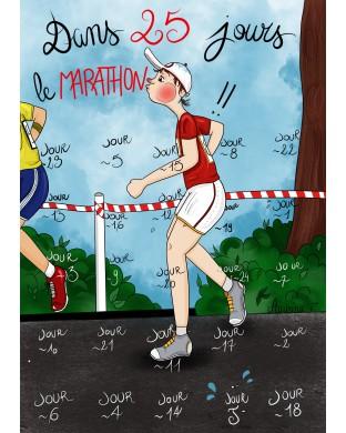 Calendrier compte à rebours 25 jours pour préparer un marathon